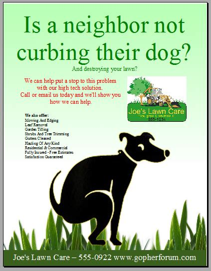 lawn care flyer my lawn care flyer what do you think lawnsite 16