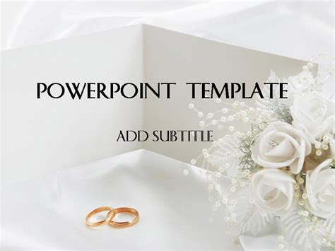 Wedding Powerpoint Template 1 แจก Powerpoint Template สวยๆ Wedding Powerpoint Templates