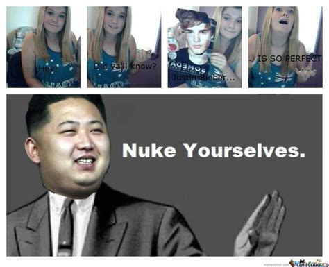 Belieber Meme - beliebers nuke yourselves by bital meme center