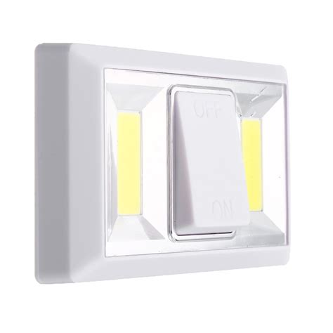 magnetic 2 cob led closet garage light indoor wall switch
