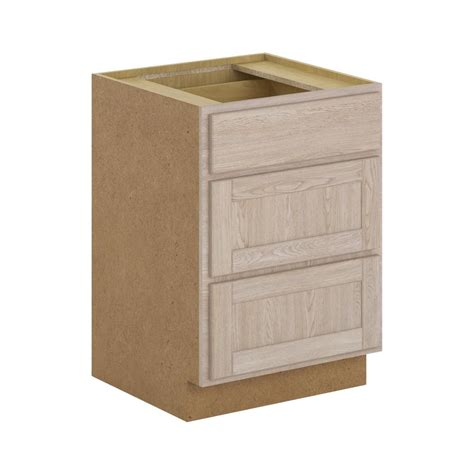 3 drawer base cabinet unfinished hton bay assembled 24x34 5x24 in stratford 3 drawers