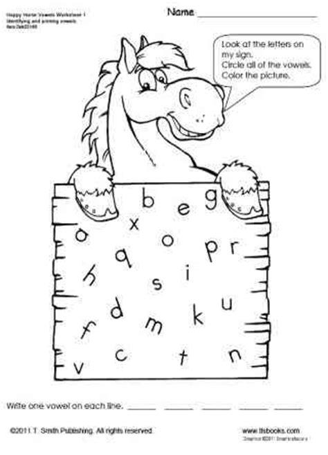 happy horse vowels worksheet 1 | tlsbooks
