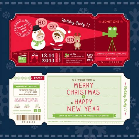 movie tickets christmas vector free download