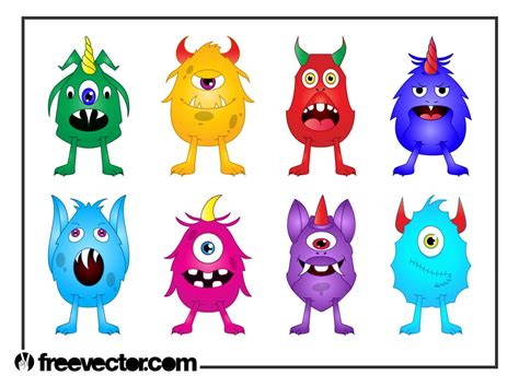 monsters free monsters set vector graphics freevector
