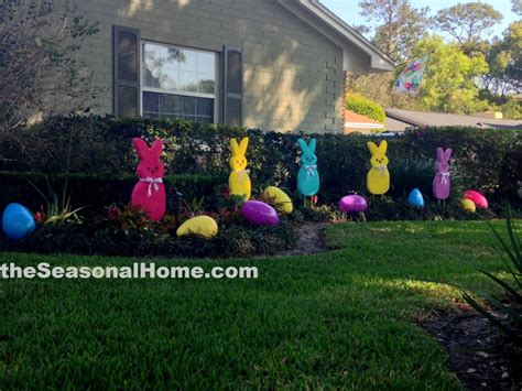 Easter Backyard Decorations by A Patch O Peeps In The Easter Garden 171 The Seasonal Home