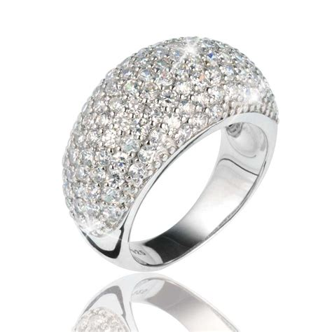 Pave Ring by Pave Vienna Ring Rhodium