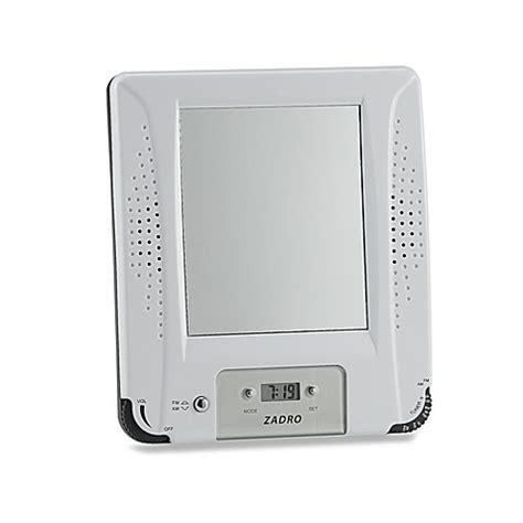 bathroom radio mirror am fm shower radio with fog free mirror and digital clock