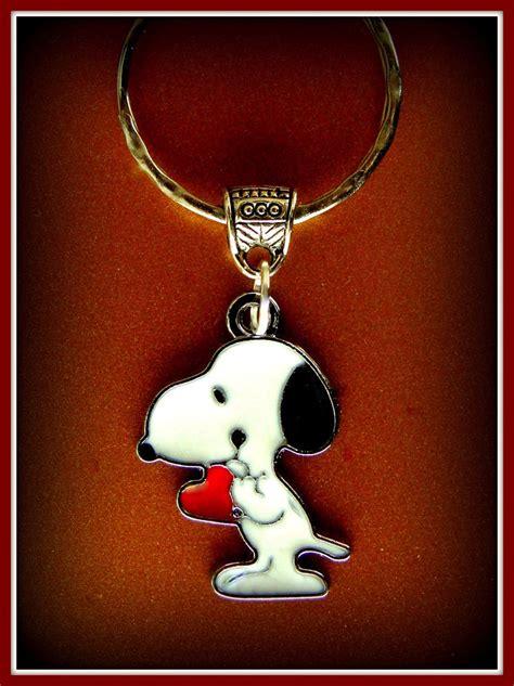 snoopy keychain brown s peanuts jewelry