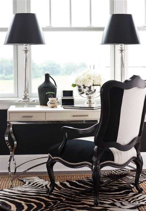 monochrome home office daily decor