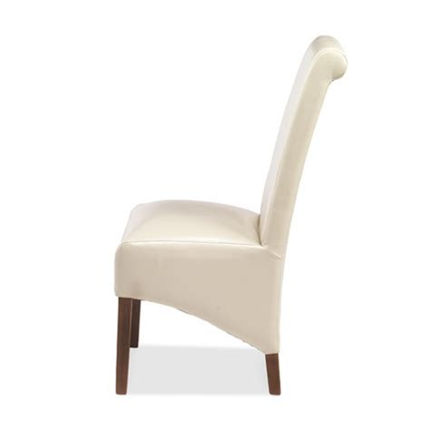 Beige Leather Dining Chairs Cuba Bonded Leather Dining Chairs Beige Pair Lifestyle Furniture Uk