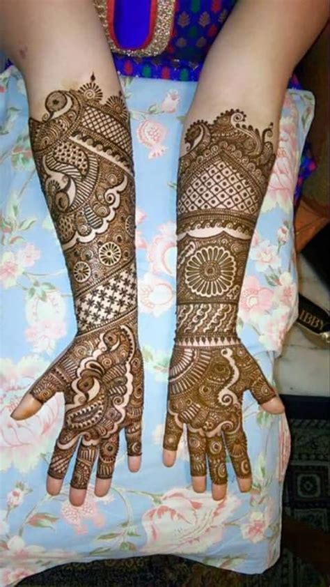 beautiful bridal mehndi designs for wedding on valentine