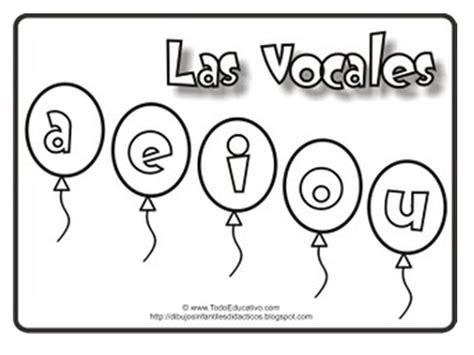 imagenes educativas para pintar las vocales para colorear
