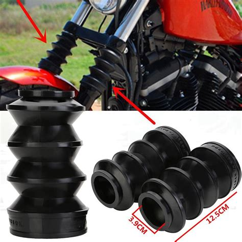 rubber st custom motorcycle black 39mm front fork rubber covers gaiters