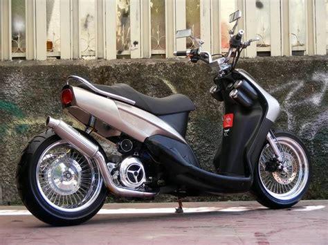 modifikasi motor matic mio sporty minimalist  rider