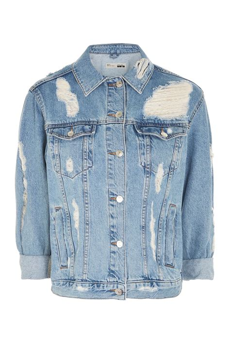 ripped denim jacket clothing