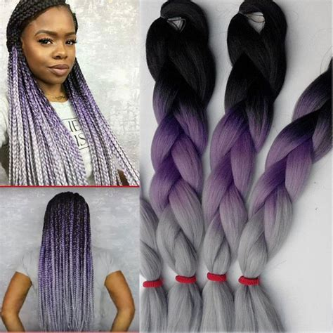 purple ombre braiding hair purple ombre braiding hair 100g 10pcs crochet braids hair