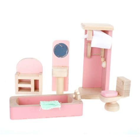 dollhouse bathroom furniture children wooden doll house furniture bathroom ed ebay