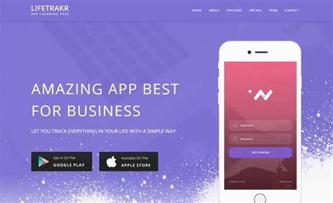 Free Responsive Bootstrap App Landing Page Template In 2017 Bootstrap App Landing Page Template