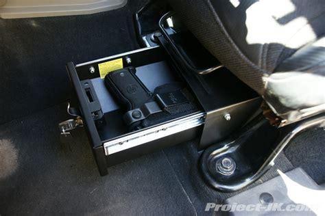 seat gun safe jeep wrangler seat locking storage advice jk forum the top