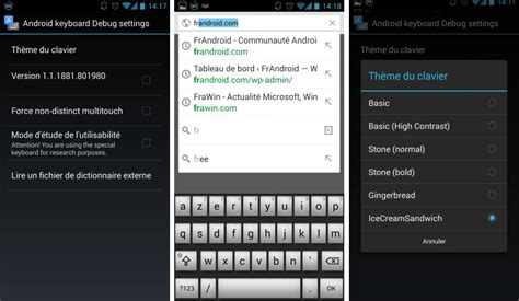themes for stock android keyboard cinq anciens th 232 mes accessibles sur le clavier google d