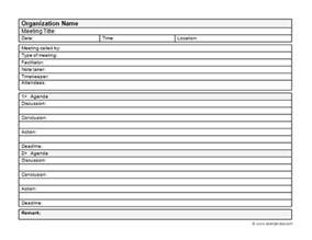 Business Meeting Minutes Template Word by Business Meeting Minutes Template Free Printable Templates