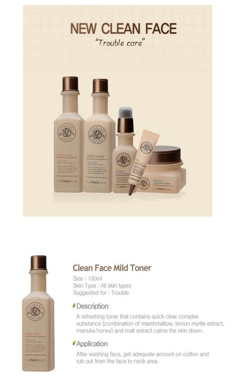 Harga The Shop Clean Mild Toner the shop clean mild toner korean