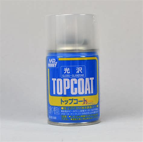 mr hobby gunze top coat spray 86ml gloss clear b501 ebay