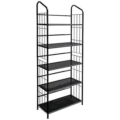 meyers black 5 tier metal bookshelf 6h917 www