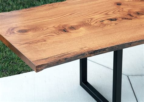 edge pin oak table solid hardwood furniture locally handcrafted tables country lane
