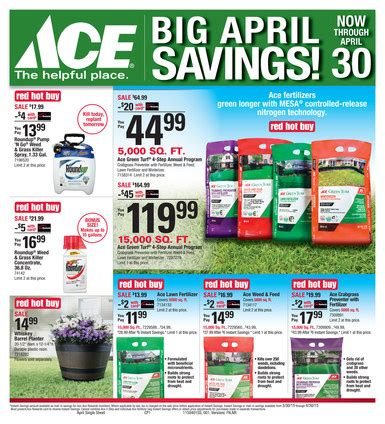 ace hardware flyer april ace specials