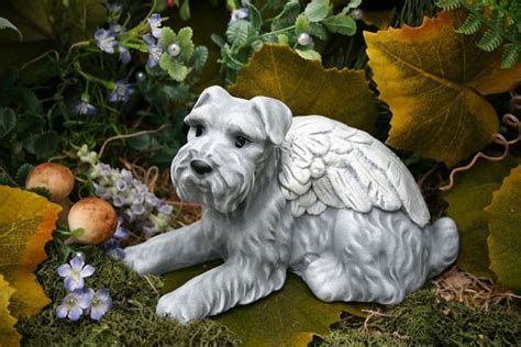 Cat Tembok Outdoor Mix One schnauzer statue pet memorial garden decor