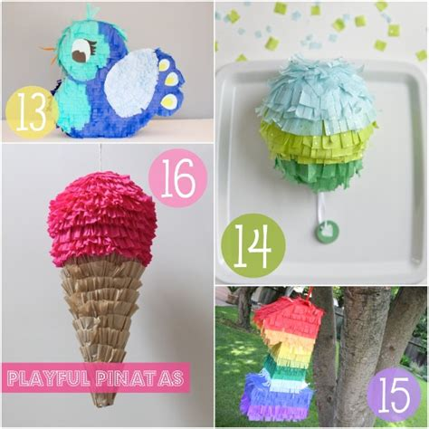 Handmade Pinata - celebrate in handmade style 20 tutorials to give your
