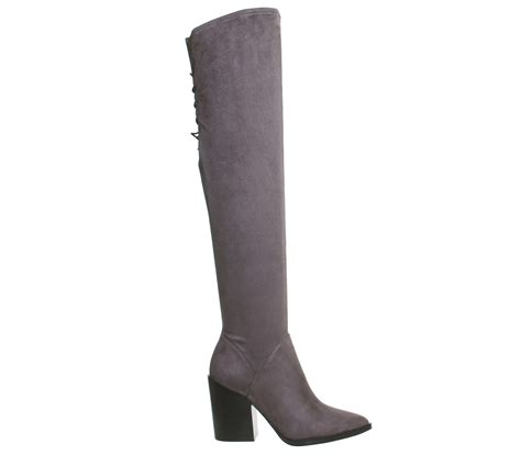 kendall portia the knee boots grey suede