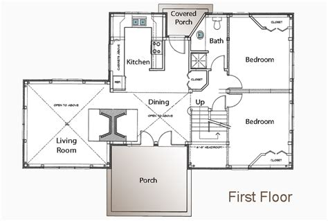 Guest Cottage Floor Plans by Meeks Point Guest Cottage Floor Plans American Post