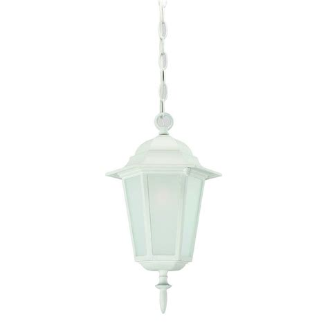 White Outdoor Light Fixtures Acclaim Lighting Camelot Collection 1 Light Textured White Outdoor Hanging Light Fixture 6116tw