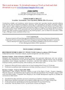 business analyst resume exles objectives you to