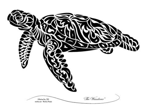 the wanderer abstract tribal turtle art print merlee