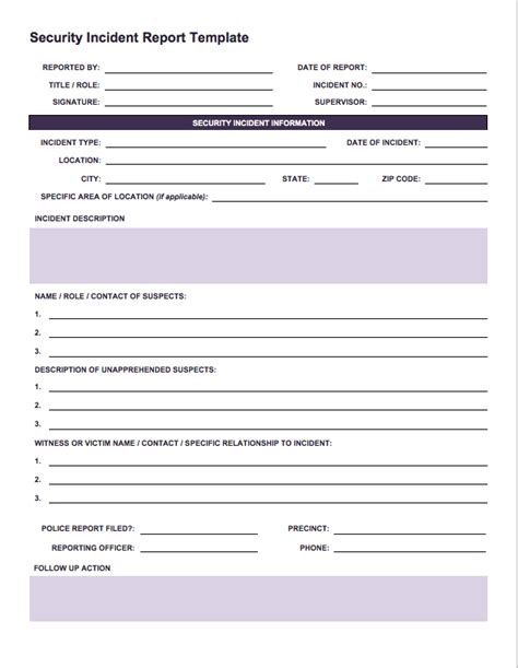 incident report template free incident report templates smartsheet