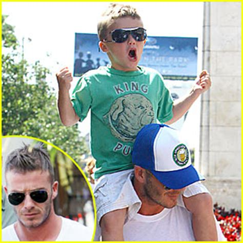 Paparazzi Make Romeo Beckham Cry At Disneyland by David Beckham The Grove Shopping Spree Beckham