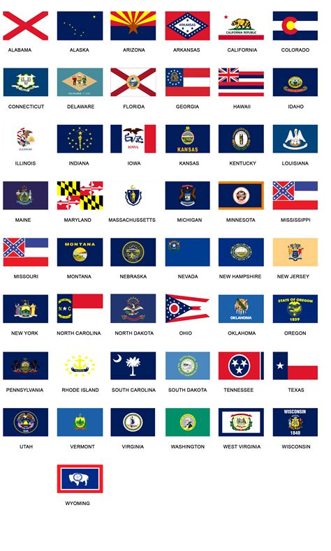 flags of the world united states us state flags us wings