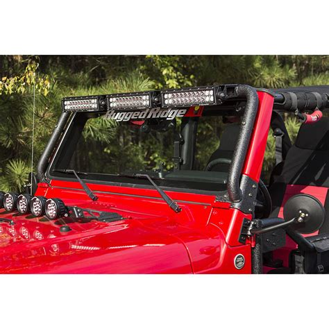 Jeep Wrangler Led Light Bar Rugged Ridge 11232 08 Windshield Led Light Bar 97 06 Jeep Wrangler Tj