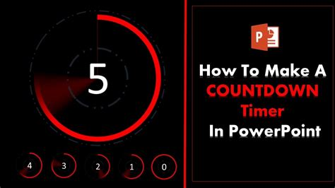 How To Create A 5 Second Countdown Timer In Powerpoint Youtube Countdown Timer For Ppt