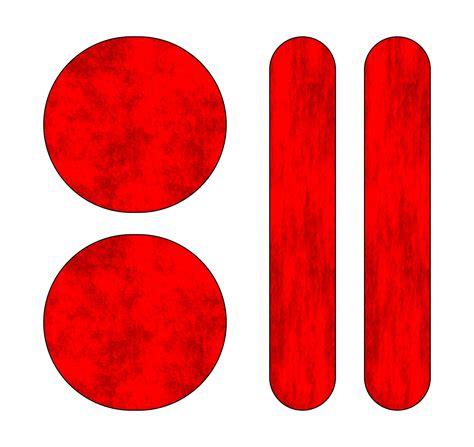 Reflektor Aufkleber Rot by Aufkleber Holografie Leucht Reflektoren 110 X 90 Mm Rot