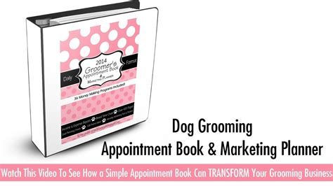 groomer appointment book daily appointment book planner organizer 8 x10 size 2 columns 120 pages for groomers and other professionals who take appointments books grooming appointment book marketing planner