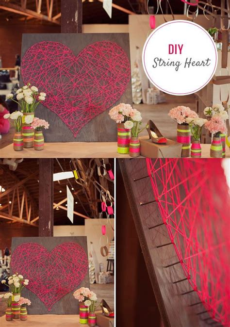 diy teen room decor tips diy string art heart tutorial cute diy bedroom decor
