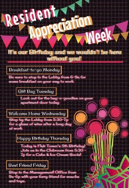 Resident Appreciation Week 2015 Google Search Work N Pinterest We Villas And Ideas Resident Appreciation Week Flyer Template