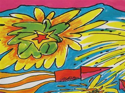 psychedelic   billboard  linen     sale  stdibs
