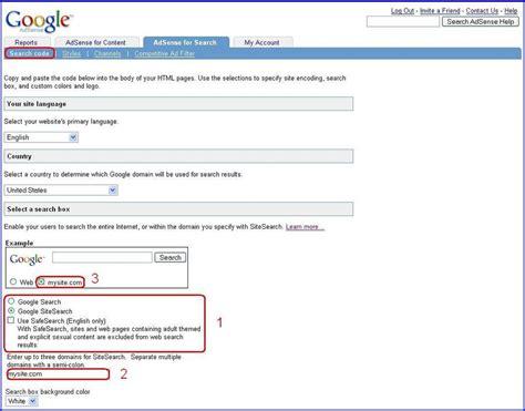 adsense search inside adsense searching for flexibility
