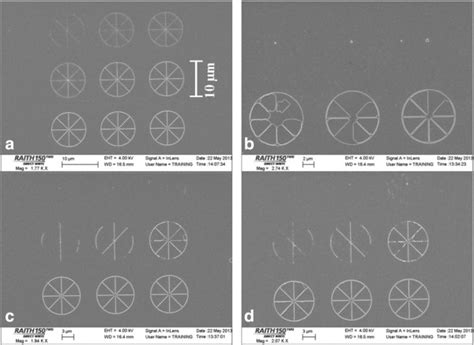 pattern generator electron beam lithography cr pattern created by electron beam lithography with pmma