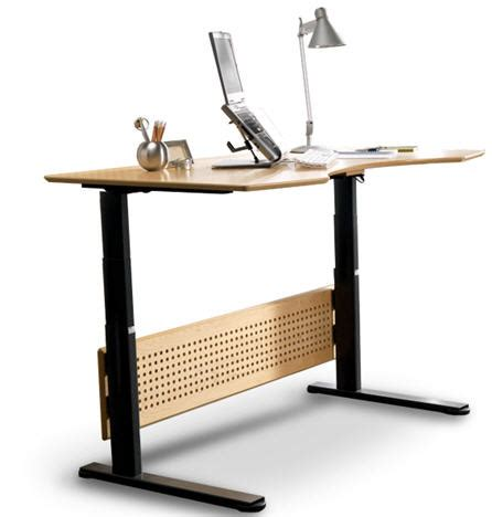 The Sit And Stand Desk Modern Urban Livingmodern Urban Sitting Standing Desk
